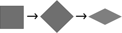 Rectangular tile to isometric tile